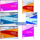 A3 or A4 Tracing Pad/Graph Pad / Layout Pad Ideal for home/school/office/Art New