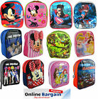 CHILDRENS KIDS MICKEY MINNIE SPIDERMAN SUPERMAN CARS FROZEN  BACKPACK SCHOOL BAG