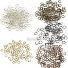 New Lot 300/2000pc Silver/Gold Plated Open Metal Jumping Rings Finding 4/6/8mm