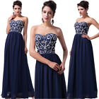 Women's Strapless Chiffon Ball Gown Formal Evening Prom Party Dresses Bridesmaid
