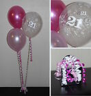 21st Birthday Balloons - DIY Party Decoration Kit Clusters For 5 - 15 Tables