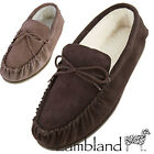 Mens / Womens Genuine Suede Sheepskin Moccasin Slippers with PVC Sole