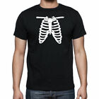 NEW WOMENS MENS RIB CAGE HALLOWEEN FANCY DRESS COSTUME T SHIRT