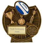 RUGBY TROPHY BALL 2D TROPHIES LEAGUE UNION 3 SIZES AVAILABLE ENGRAVED FREE