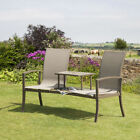 Havana Duo Companion Garden Love Seat By Suntime Black, Charcoal or Bronze