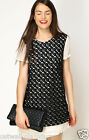 French Connection Crochet Hatched Horses Lace Crepe Tunic Party Cut Dress  £120