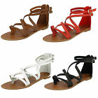 LADIES SALE SPOT ON ANKLE STRAP SANDALS -  F0696