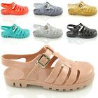 WOMENS LADIES FLAT RETRO JELLY SUMMER SANDALS HOLIDAY FLIP FLOPS SHOES SIZE 3-8