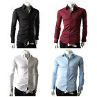Hot!JS Handsome Collection Button Down Long Sleeves PJ Mens Casual Shirts 4Color