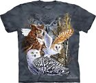 Find 11 Owls T-Shirt by The Mountain. Hidden Bird Images Tee Puzzle S-5XL NEW