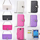 Deluxe Leather Flip Wallet Package Case Cover For Samsung Note 3 N9000 N3HYL