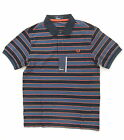 NEW FRED PERRY M8345 BLUE 3 COLOUR STRIPE POLO SHIRT SIZE S