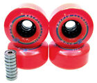 Longboard Rolle Kryptonics Classic 85mm / 80A ABEC Lager Set Ersatzrolle RED