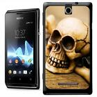 Skull & Crossbones Sat on A  Plank of Wood Hard Case For Sony Xperia E