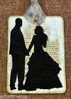 Hang Tags  WEDDING BRIDE GROOM SILHOUETTE TAGS or MAGNET #335  Gift Tags