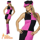 Swinging 60s 70s Sixties Ladies Womens Fancy Dress Costume Outfit