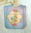 Hang Tags  FRENCH BAKERY CUPCAKE TAGS or MAGNET #185  Gift Tags