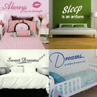 Bedroom Wall Quotes! Wall Sticker Decal Art Transfer Graphic Stencil Vinyl Decor