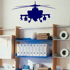 Helicopter Wall Stickers! Boys Bedroom Transfers,  Kids Interior Army Vinyl Decor