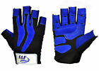 Mens  Weight Body Building Lifting Gel Padded Leather Gym Gloves  Half Finger