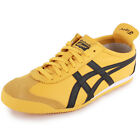 Asics Onitsuka Tiger Mexico 66 Unisex Leather Yellow Black New Shoes Trainers