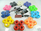 Turbo 5.25 Raw Skateboard Trucks + 52mm Color Wheels + ABEC 7 Bearings Riser Pad image