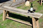 Chunky Reclaimed Rustic solid  wooden Garden Patio Bench