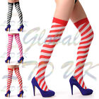 CANDY STRIPED OVER THE KNEE SOCKS LADIES GIRLS LONG THIGH HIGH COTTON SOCKS