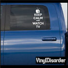 Keep Calm and Watch TV 02 Vinyl Wall Decal or Car Sticker-keepcalmandwatchtv02EY
