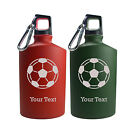 Personalized Engraved Soccer Ball Sport 17 Oz Aluminum Canteen Water Bottle