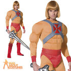 He-Man Masters of the Universe Costume 80s He Man Mens Fancy Dress Outfit