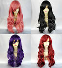 Watch Out Cosplay Long Wavy Wig Purple Black Red Pink Ladies Wigs from WIWIGS UK