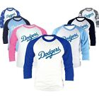 Los Angeles LA Dodgers printed 3/4 Sleeve Raglan Baseball Tshirts Jersey Top