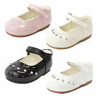 Baby Girls Shoes Formal Shoes Diamante Patent Velcro Strap Wedding Occasion
