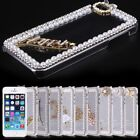 Bling Crystal Diamond Clear Transparent Hard PC Case Cover Skin For iPhone 5 5S