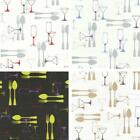 New P&s International Home Sweet Cutlery Wine Luxury Washable Kitchen Wallpaper