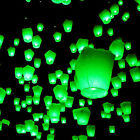 Green Flying Chinese Sky Lanterns Lantern Eco Friendly Soar 1 Mile on Fuel Cell