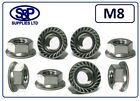 M8 - 8MM STAINLESS STEEL HEXAGON FLANGE NUT GR304 A2 SERRATED FLANGE FREE P&P
