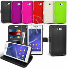 Book Wallet Leather Case Cover Pouch For Sony Xperia M2 D2306