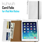 Kuhvuh Card Folio Case Smart Cover Stand Case For Apple iPad Mini 1 2 3 Retina