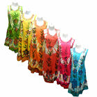 WOMENS LADIES GIRLS FLORAL BEACH HOLIDAY SUMMER BRIGHT COVER DRESS ONE SIZE 8-14