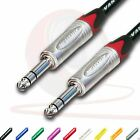 "¼"" Jack to ¼"" Jack Lead. NEUTRIK, 6.35mm, TRS, Stereo, Balanced Cable. 3m 5m 10m"