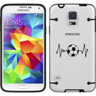 For Samsung Galaxy S3 S4 S5 Transparent Clear Hard TPU Case Heart Beats Soccer