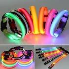 ❤BIG SALE❤ Flashing Light Up Dogs Collar LED Pets Night Visible Glows Neck Strap