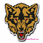 2 x Glossy Vinyl Stickers - Angry Wolf Cool Guitar Wall Laptop Decal #0130