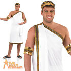Mens Julius Caesar Costume Toga Greek Roman Adult Fancy Dress Outfit