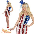 American Flag Costume Sexy 4th of July USA Fancy Dress Outfit 8 - 18
