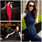 Women Sexy V Neck Summer Cocktail Evening Party Long Pants Jumpsuits Rompers