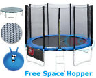 Trampoline With Safety Net Enclosure, Ladder & Rain Cover 6ft 8ft 10ft 12ft 14ft