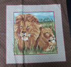 PAIR of QUILT ANIMAL FABRIC PILLOW PANELS assorted prints & colors